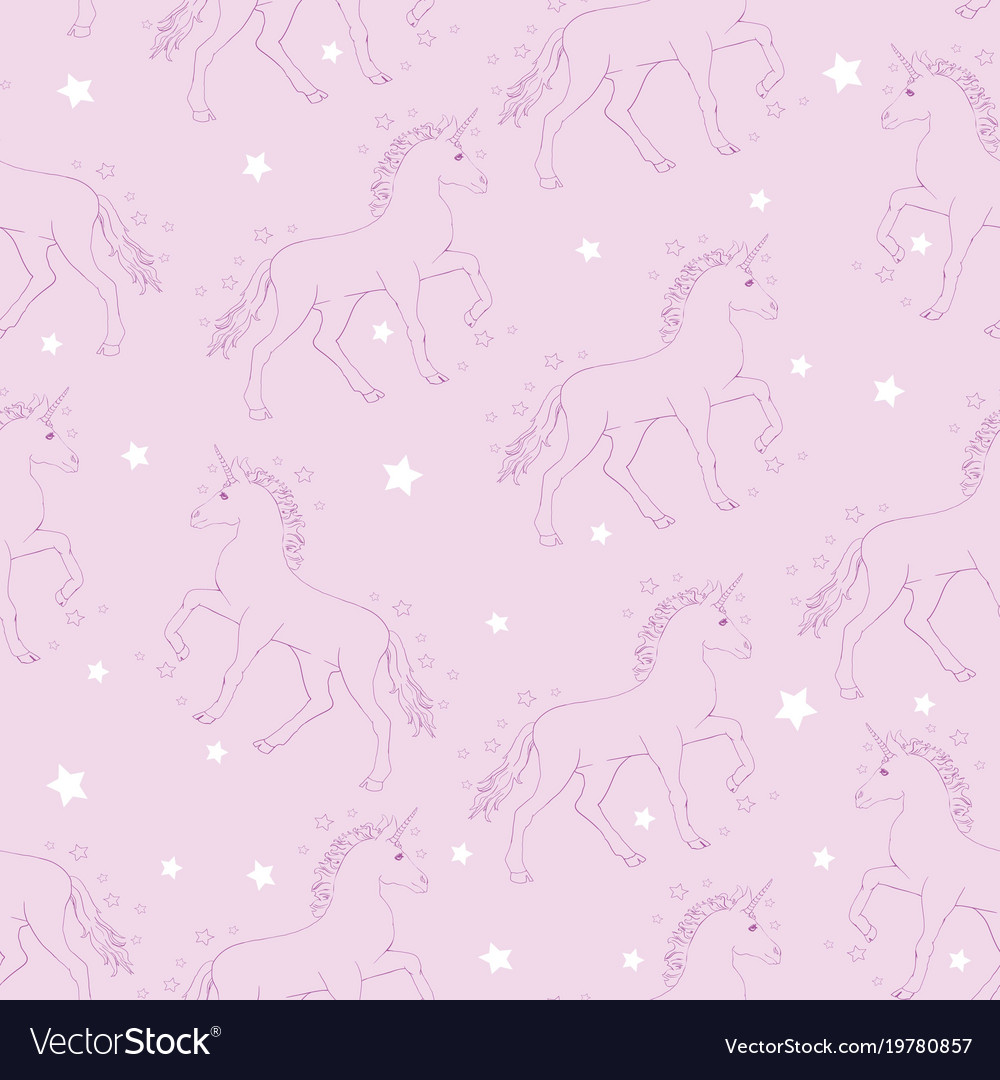 Unicorn and rainbow seamless pattern isolated on vector image