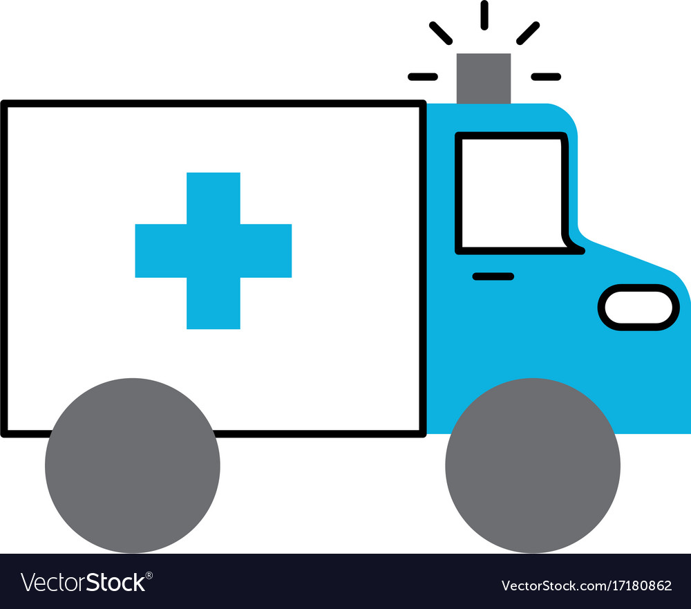Ambulance vehicle transport urgency help accident