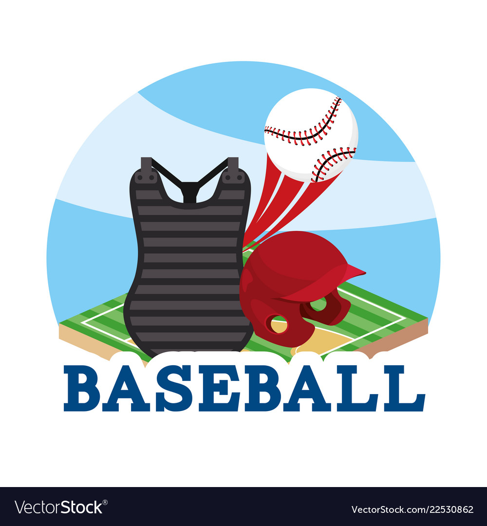 Baseball sport game with professional equipment