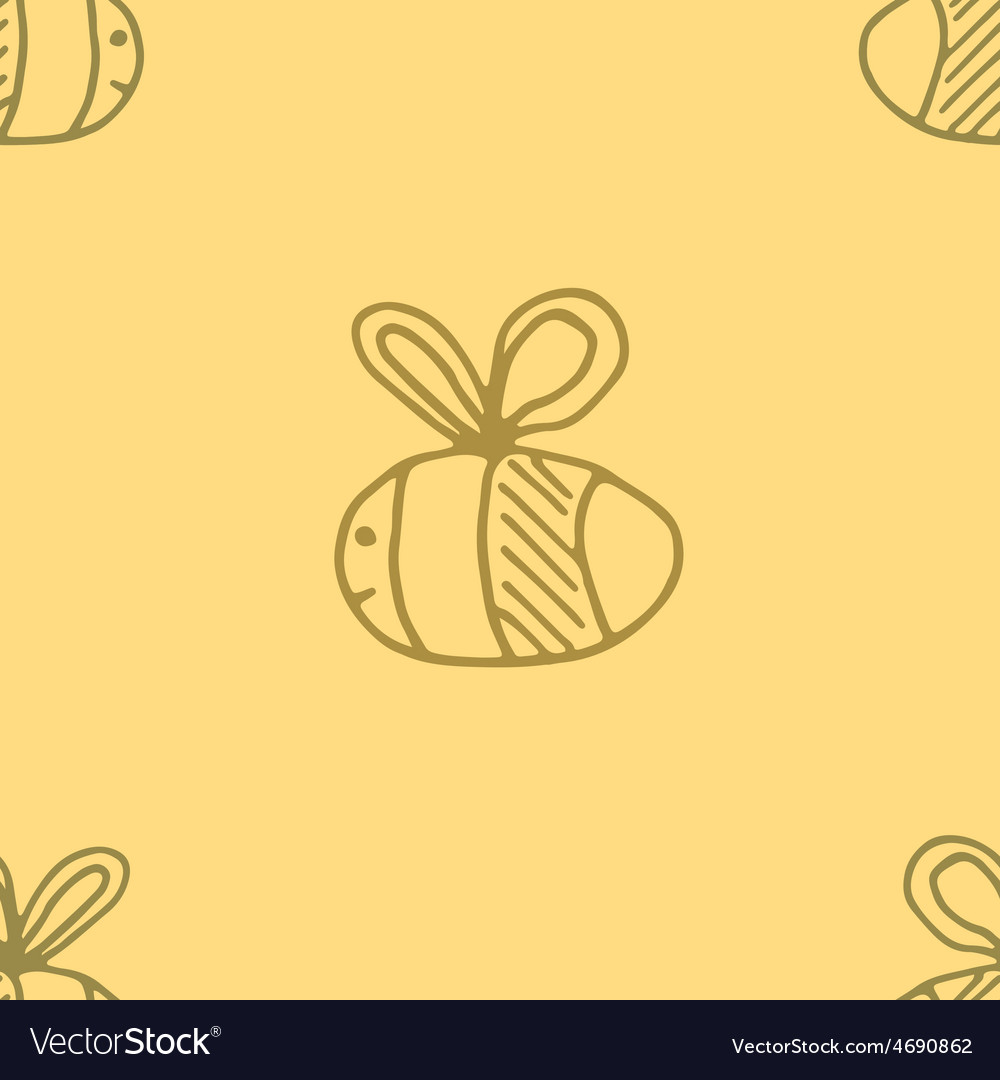 Bee pattern abstract animal art seamess background