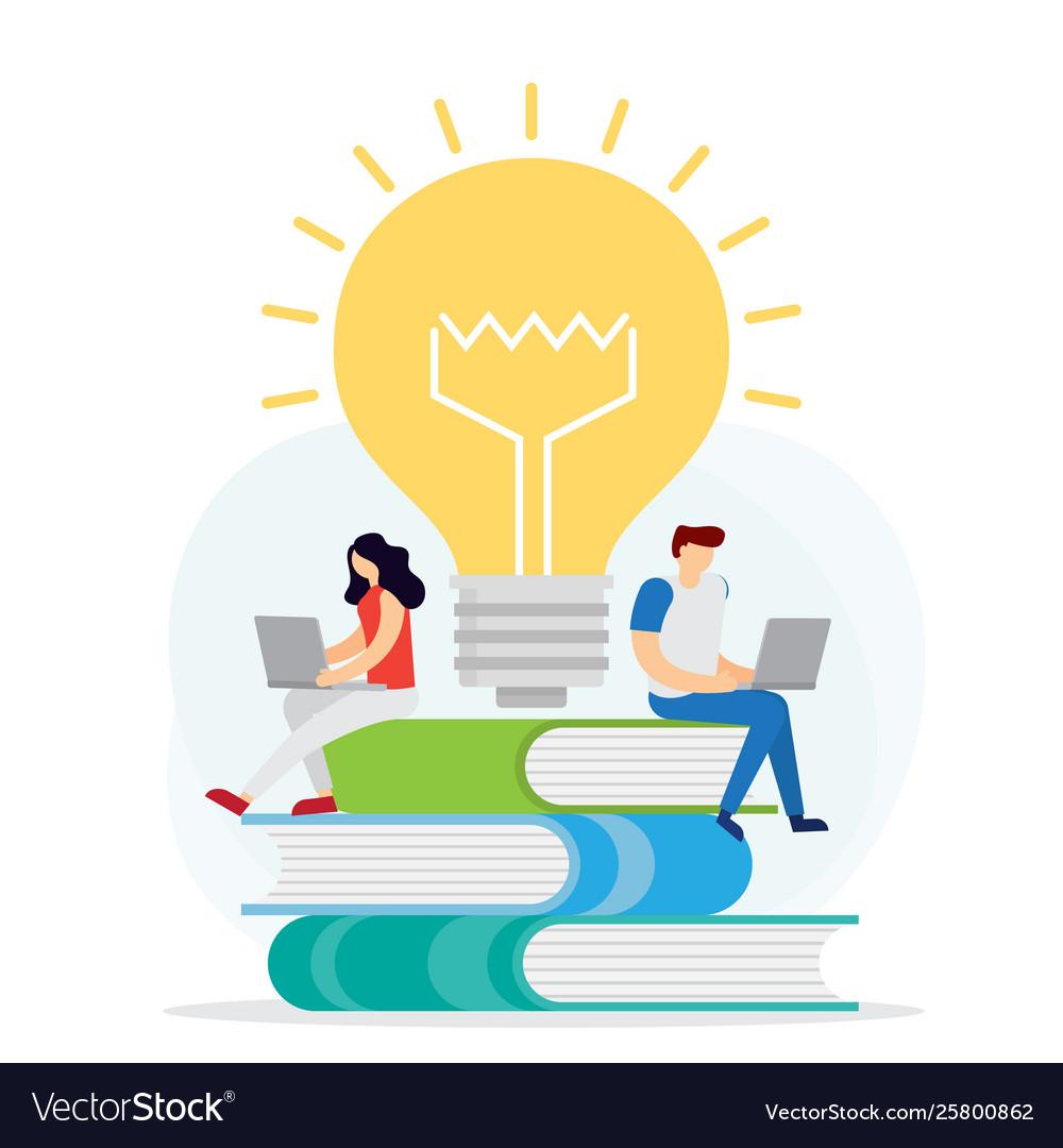 Distance education concept knowledge online
