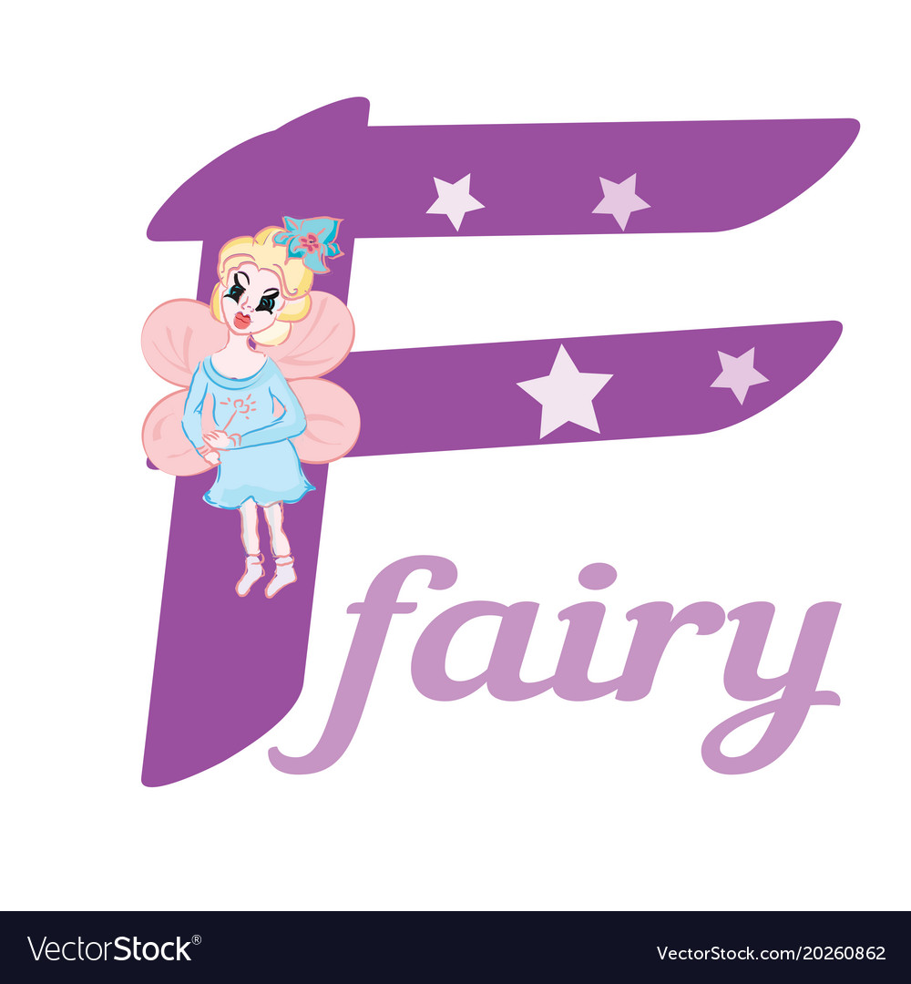 91876dbc72 Flashcard letter f is for fairy Royalty Free Vector Image
