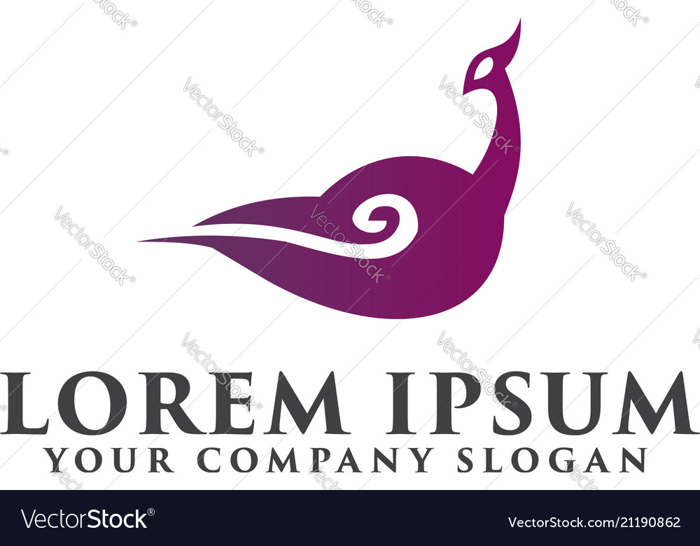 Goose cloud logo design concept template