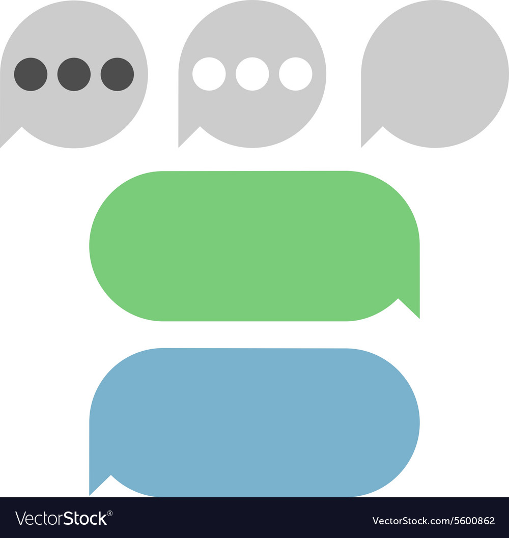 Text Messages Bubbles vector image