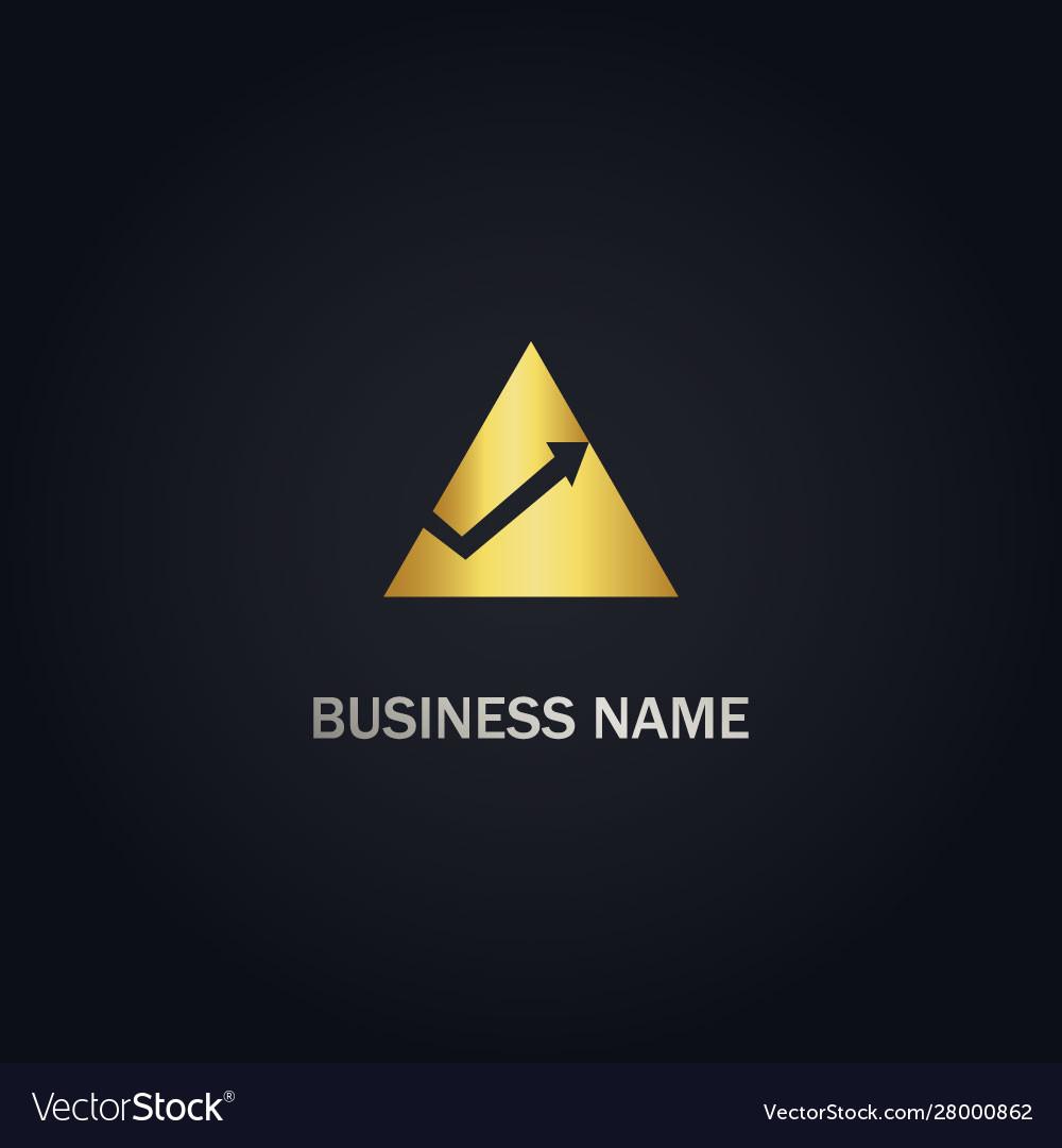 Triangle arrow up gold logo