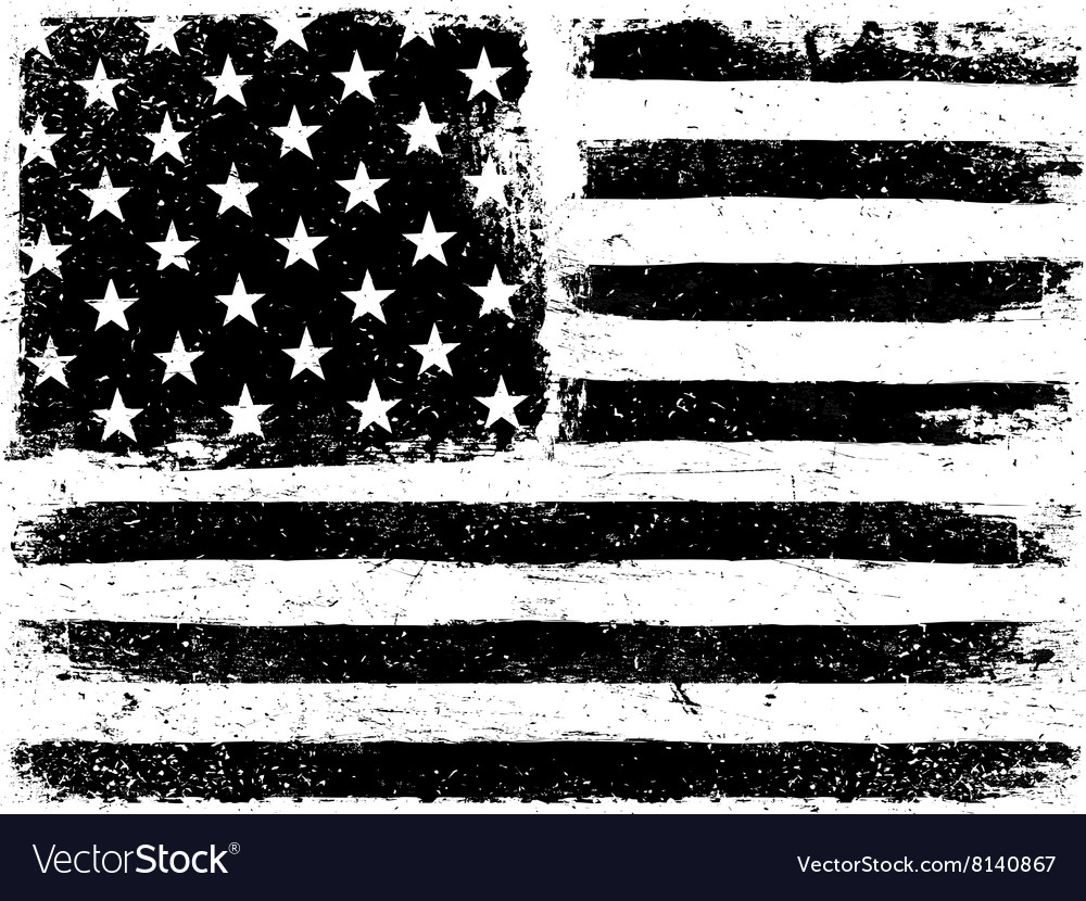 American Flag Background Grunge Aged Template