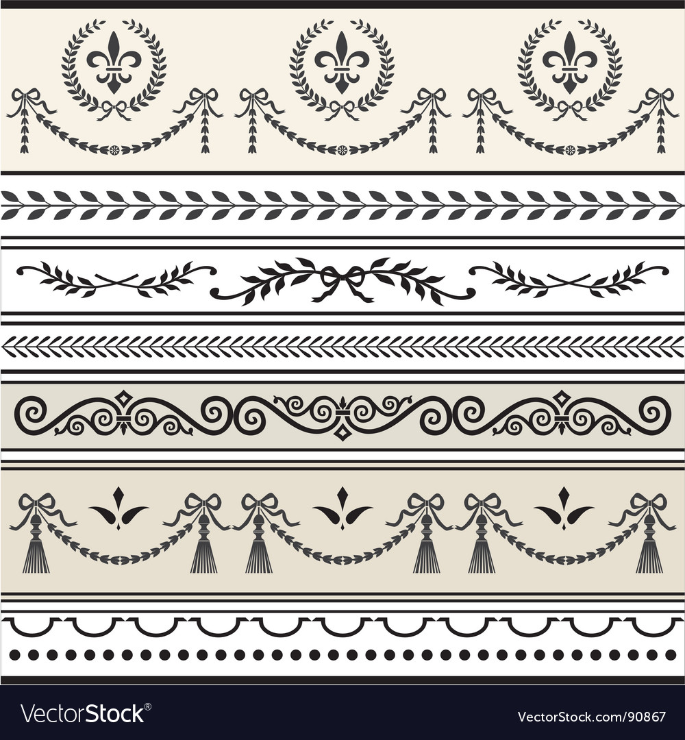 Antique scroll borders
