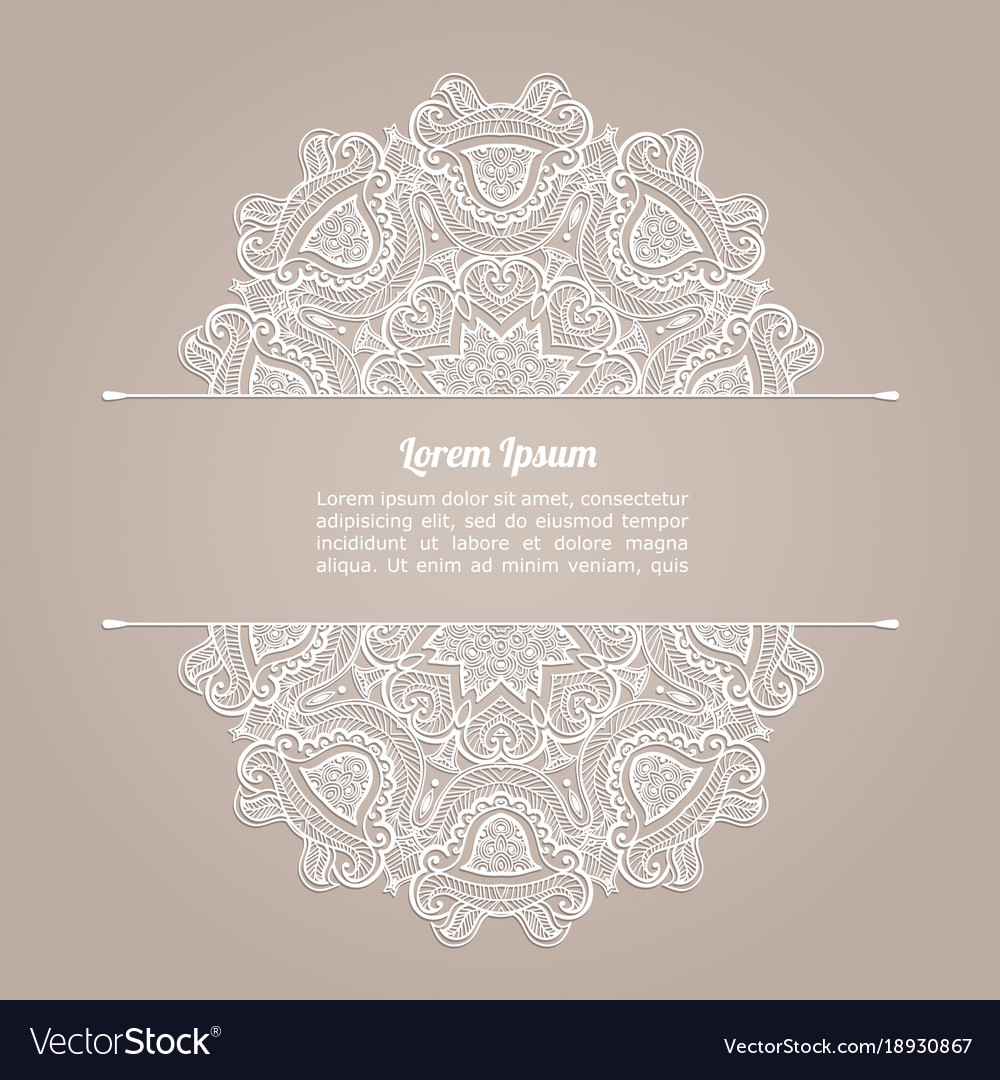 Background With Lace Pattern Invitation Template