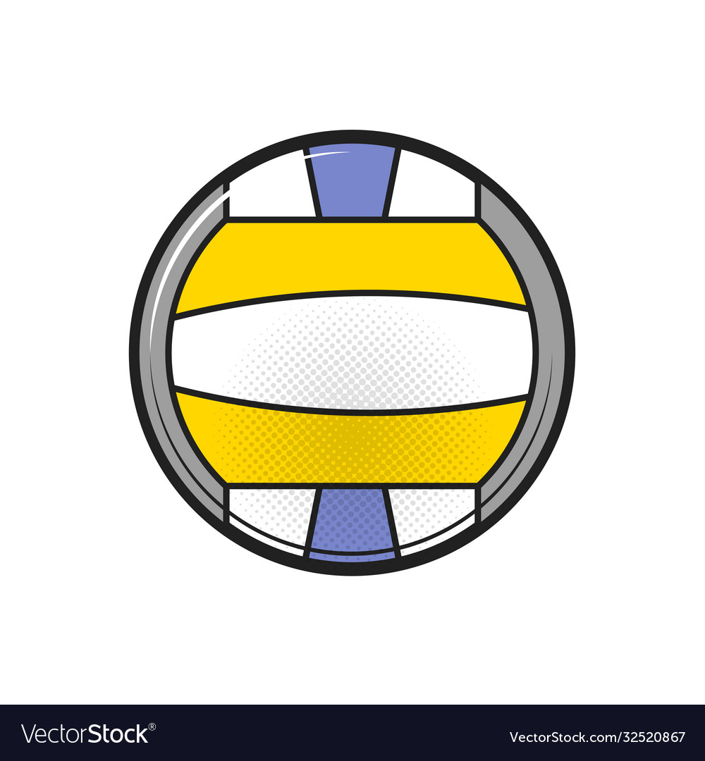 Beach volleyball ball on a white background