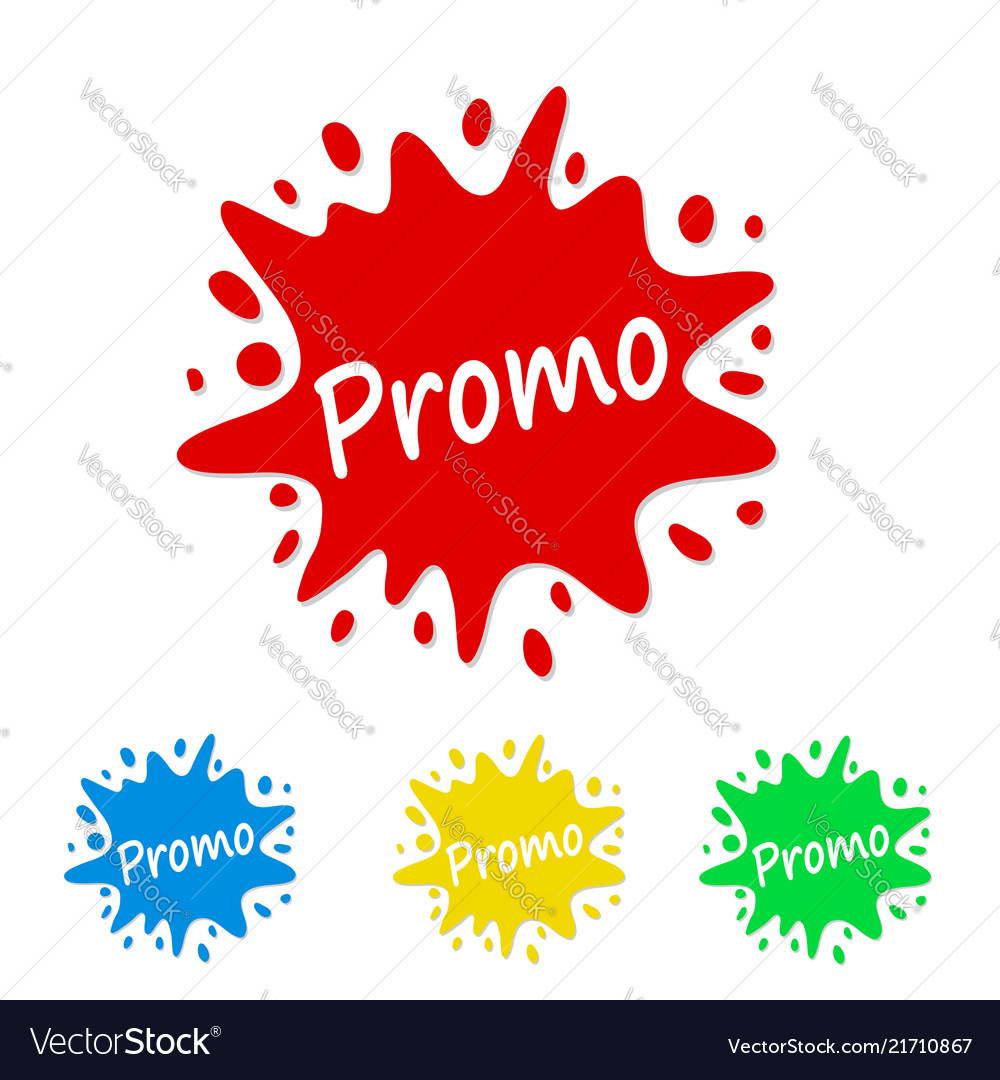 Bright paint splash tag with promo stock