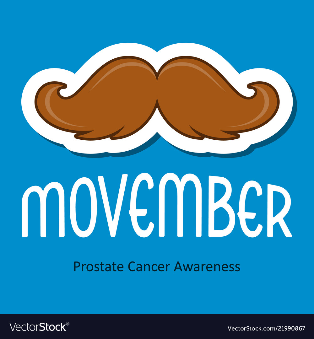 Modern movember cancer awareness event card