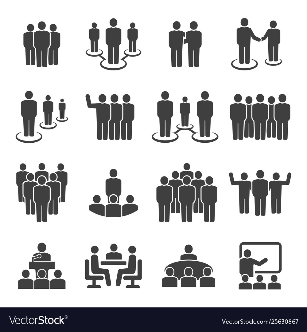 People group business team icon set