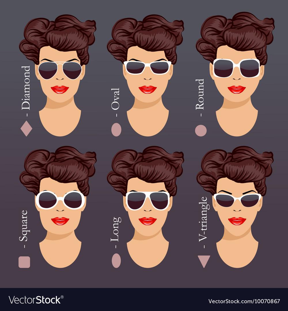 d03005d7d39 Sunglasses shapes 1 Royalty Free Vector Image - VectorStock