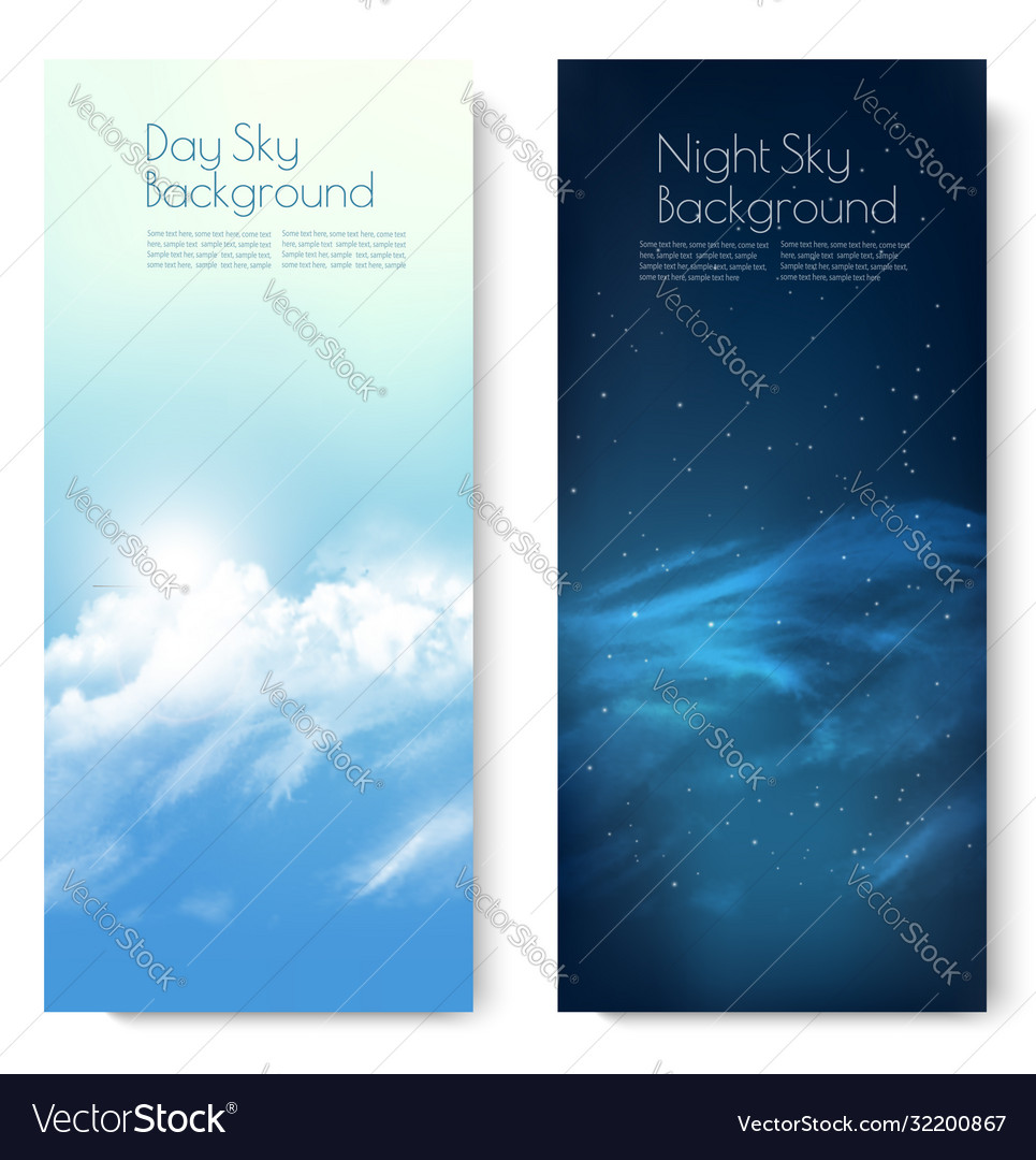 Two nature contrasting sky banners - day