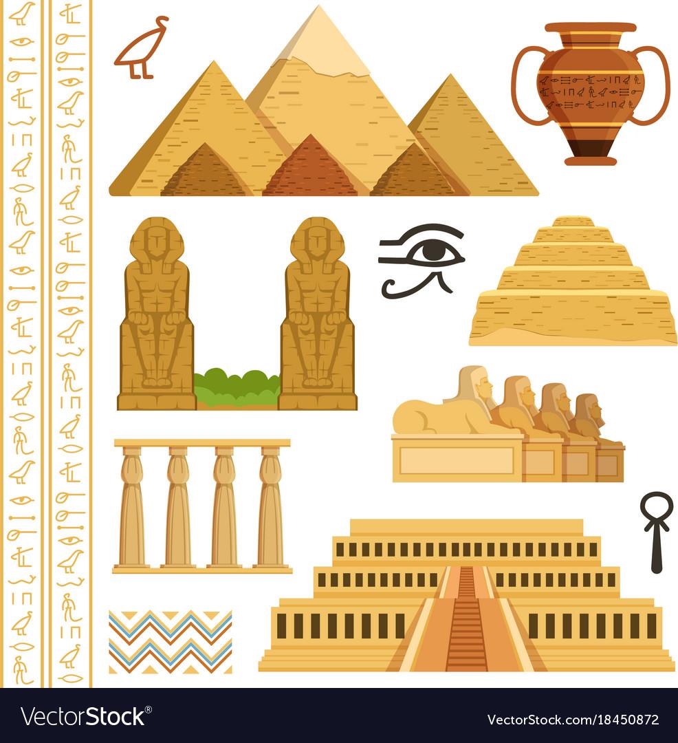 Architectural landmark of egypt different