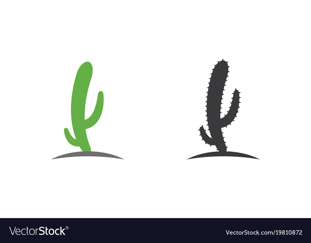 cactus icon logo template royalty free vector image