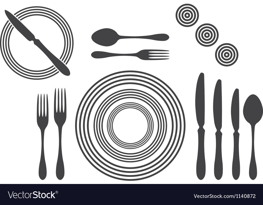 Etiquette Proper Table Setting Royalty Free Vector Image - Picture of proper table setting