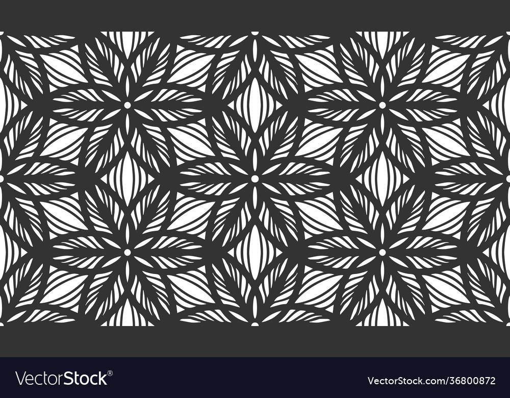 Floral seamless pattern repeat black flower lace