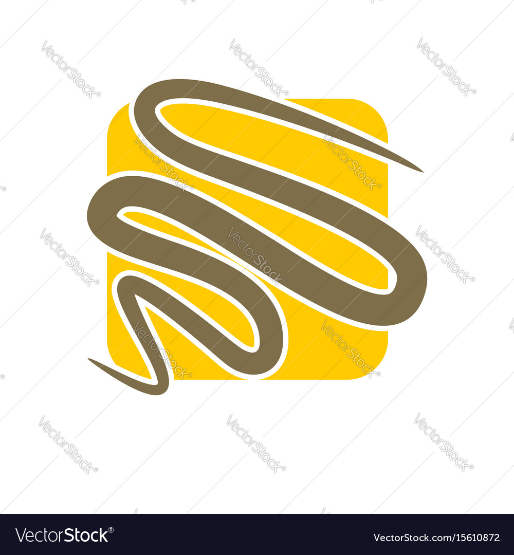 Line in square abstract logo emblem for company