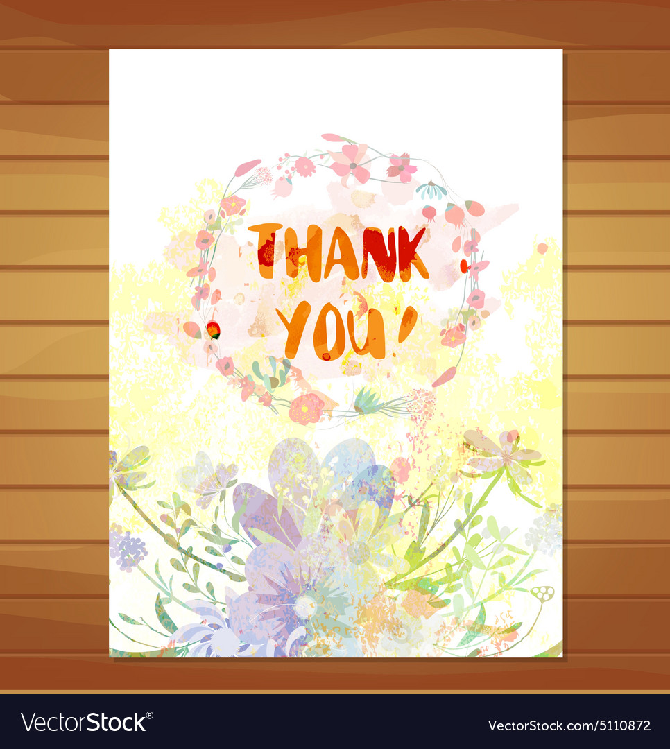 Thanksgiving card Watercolor flower background