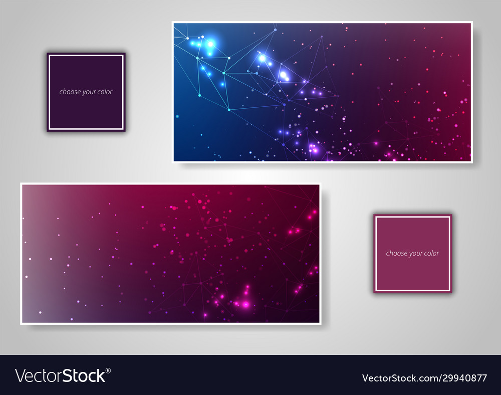 Abstract various colorful header set collection
