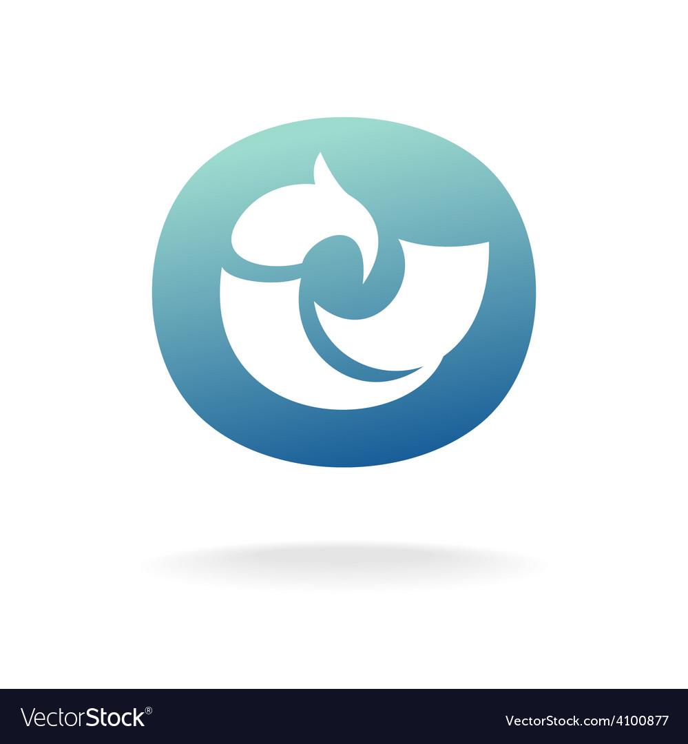 Bird logo template Sitting or floating