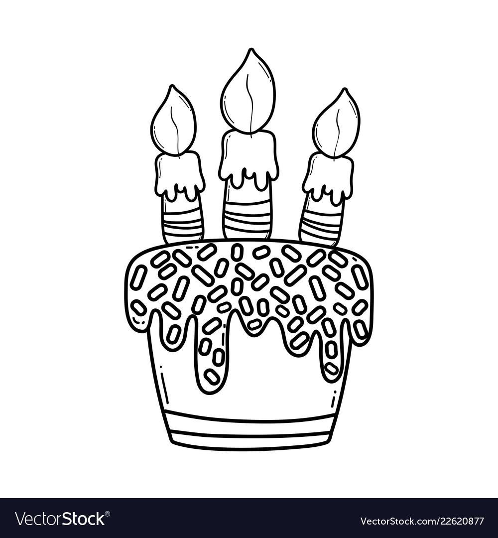 Birthday Cake Black And White Cartoon Food Recipes