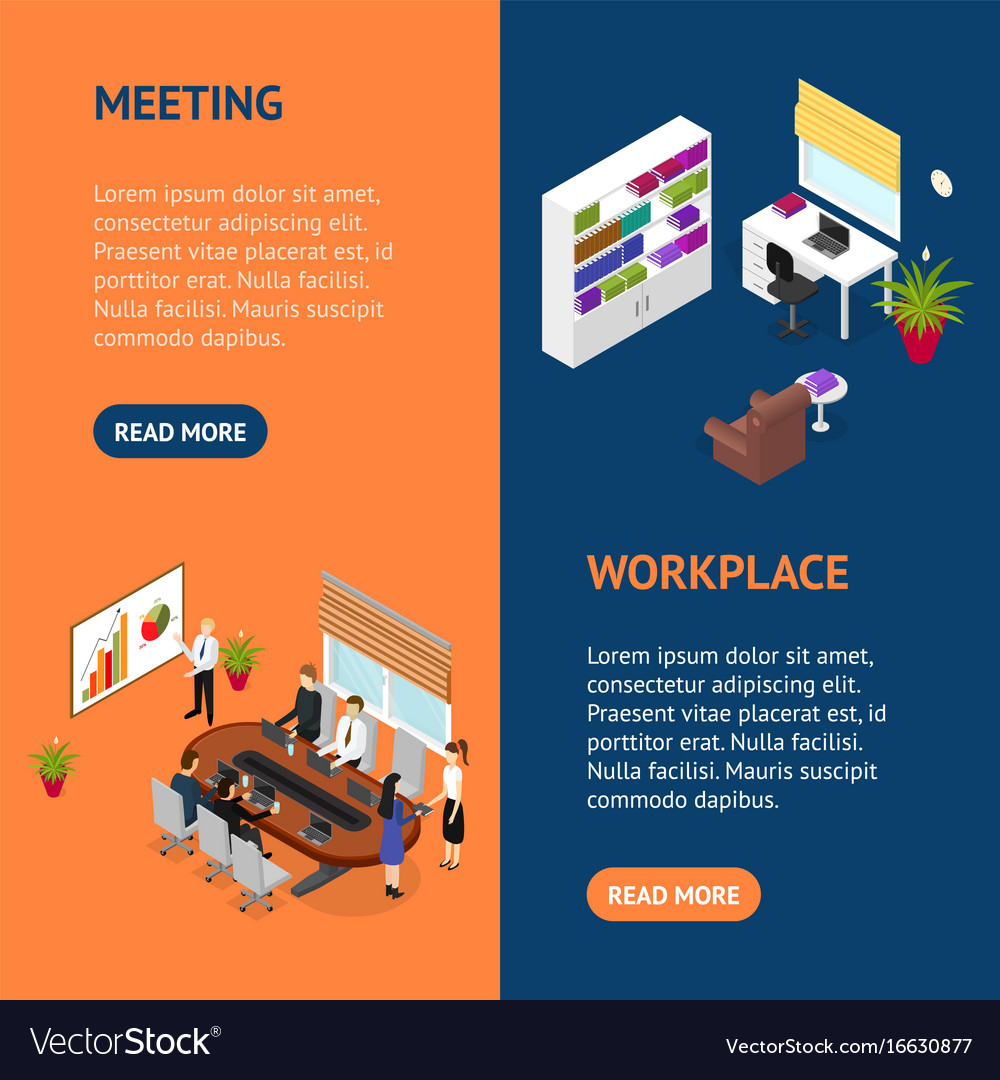 Business training or coaching banner vecrtical set vector image