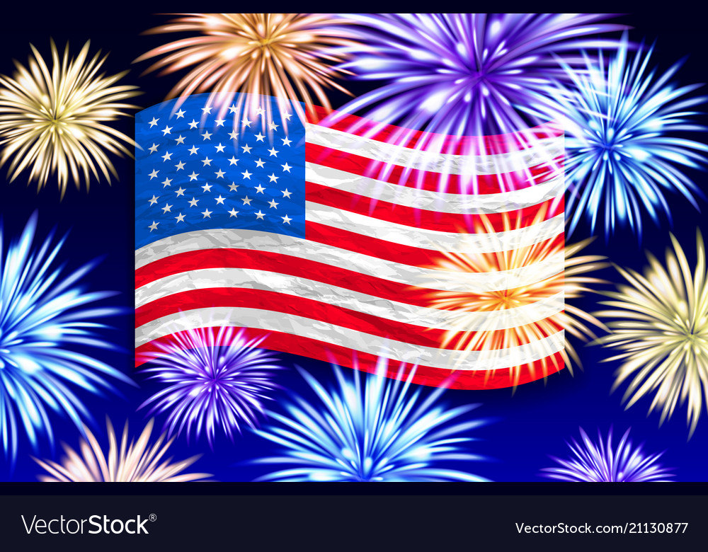 Fireworks background for independence day usa