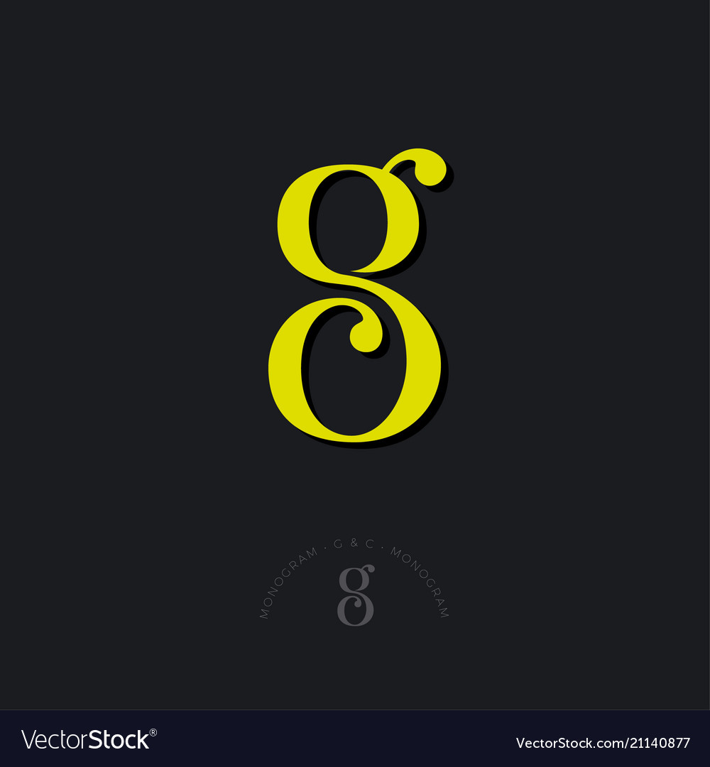 G c monogram combined letters beautiful classic