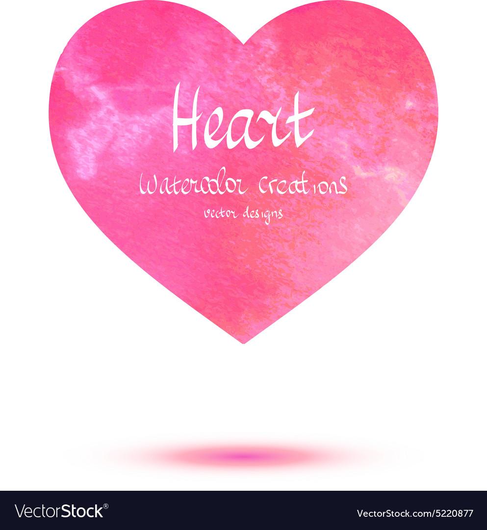 Heart watercolor banner