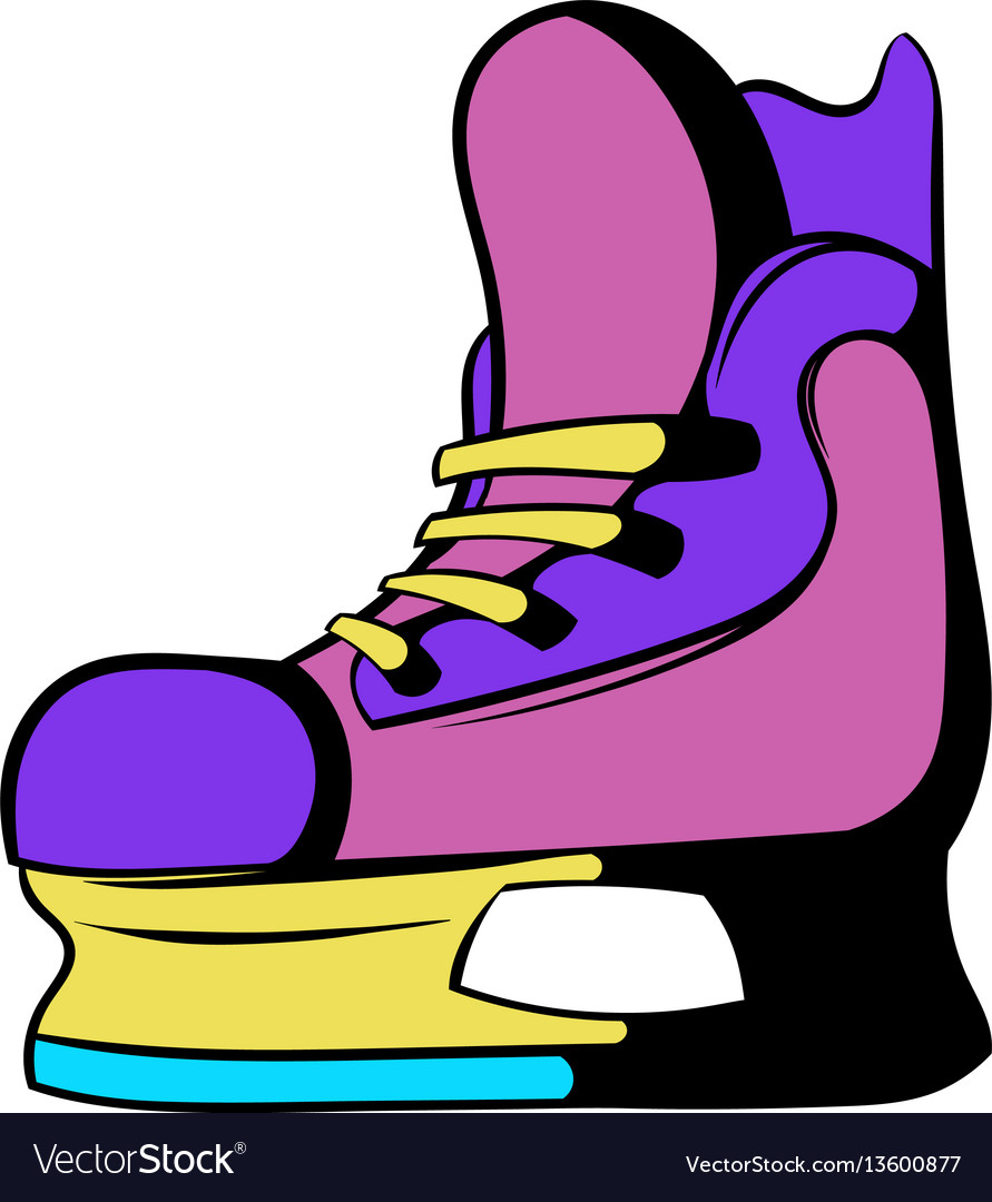 Ice hockey skates icon icon cartoon vector image