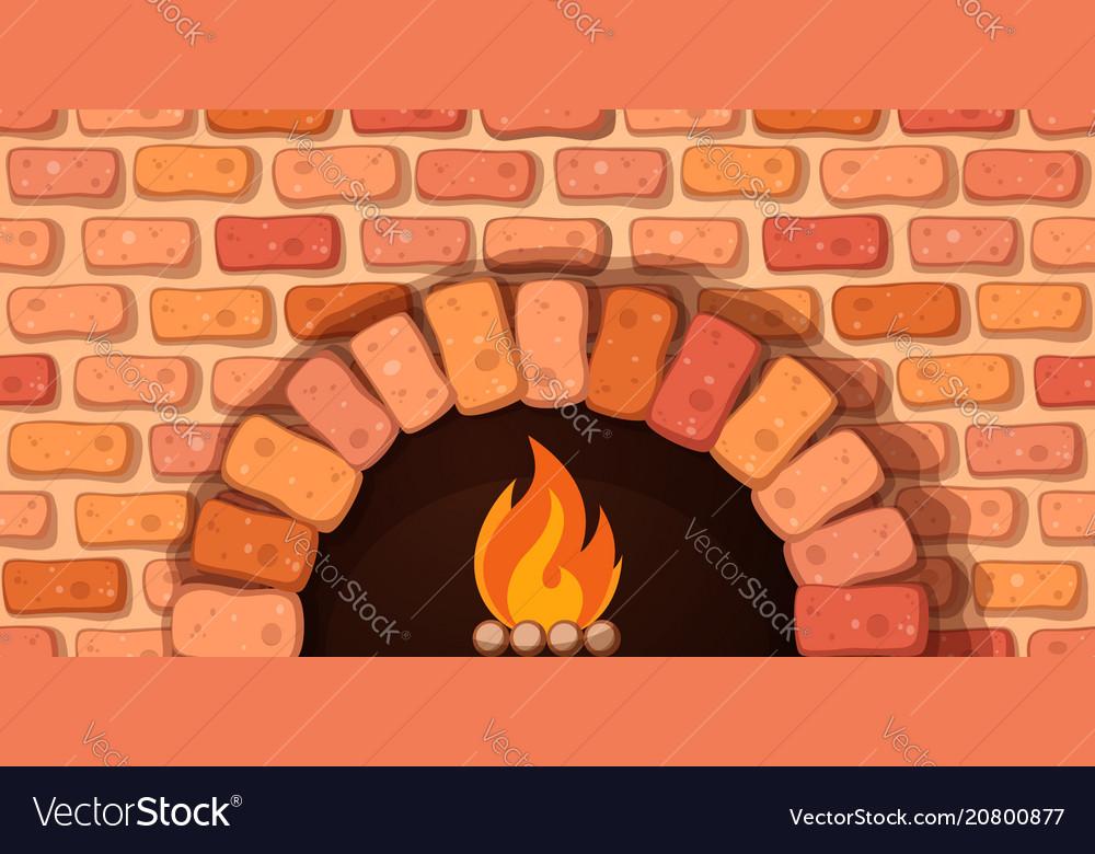 Oven bonfire stove - cartoon