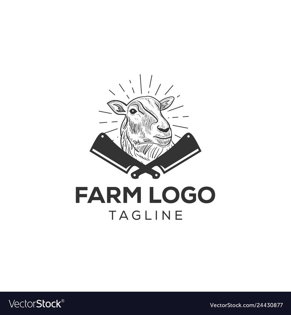 Sheep or lamb logo icon design