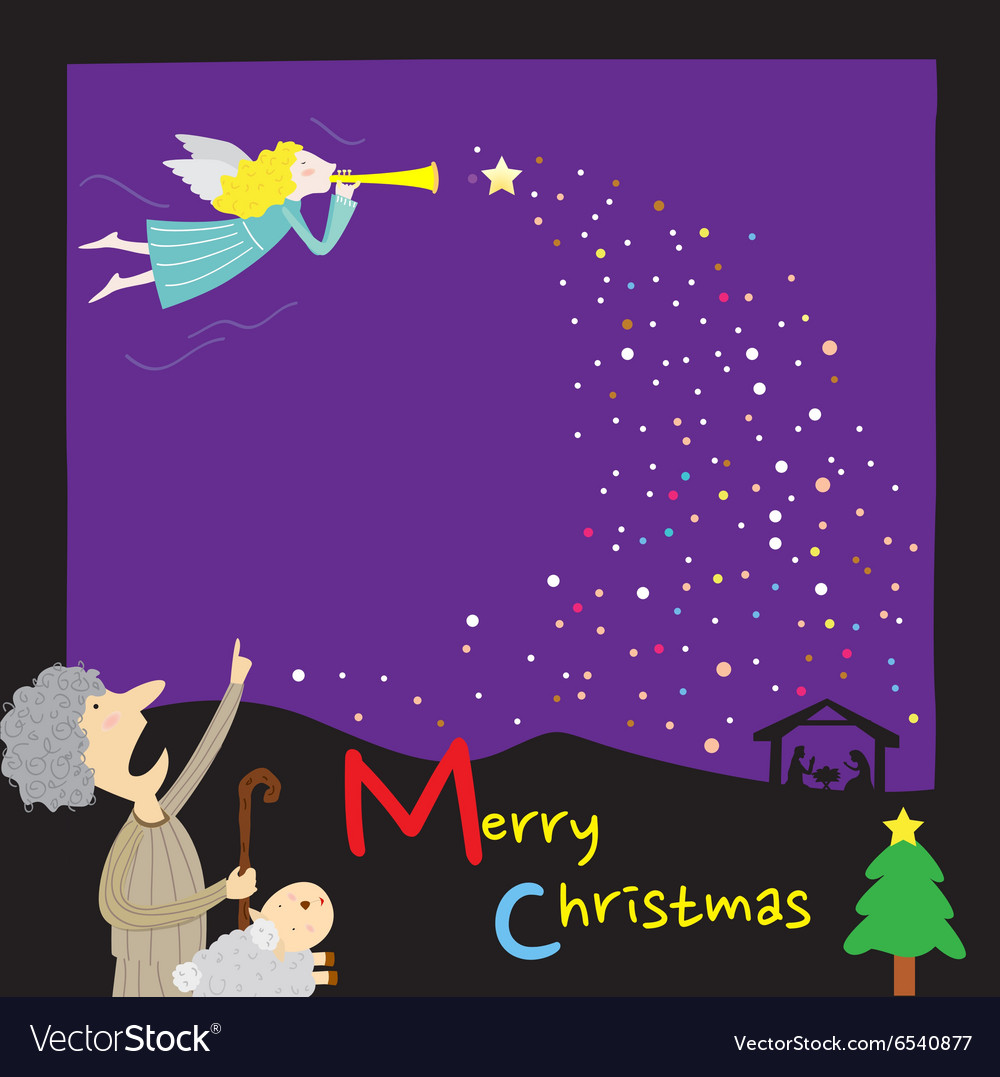 Template Christmas vector image