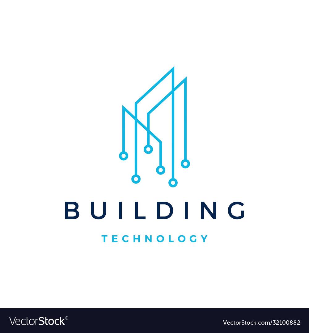 Building tech logo icon