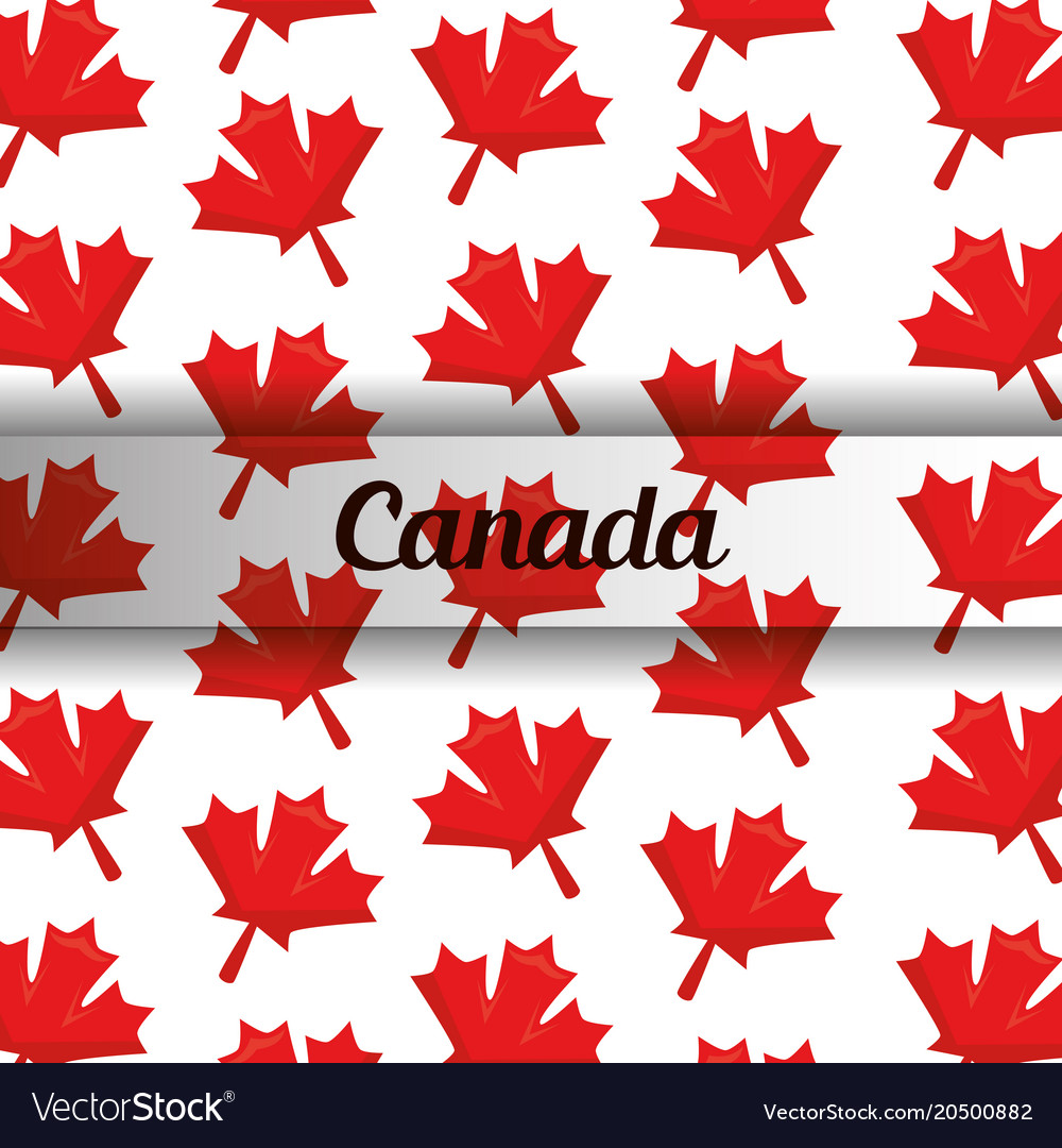 Canada flag map monument Royalty Free Vector Image on