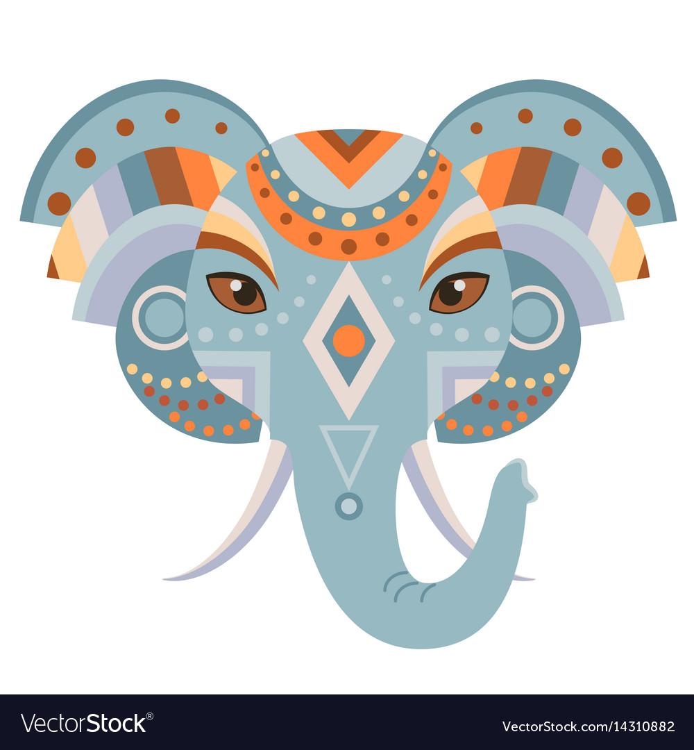 Elephant head logo decorative emblem