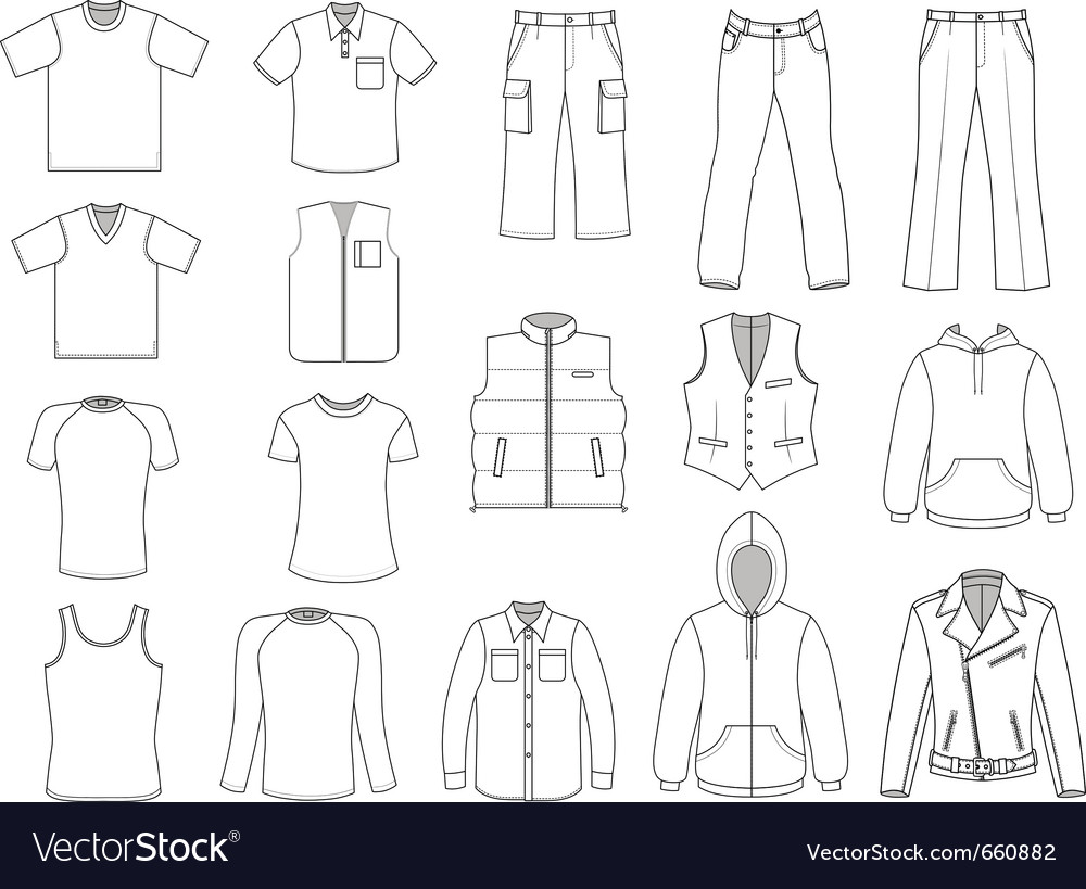 Man clothes collection vector image
