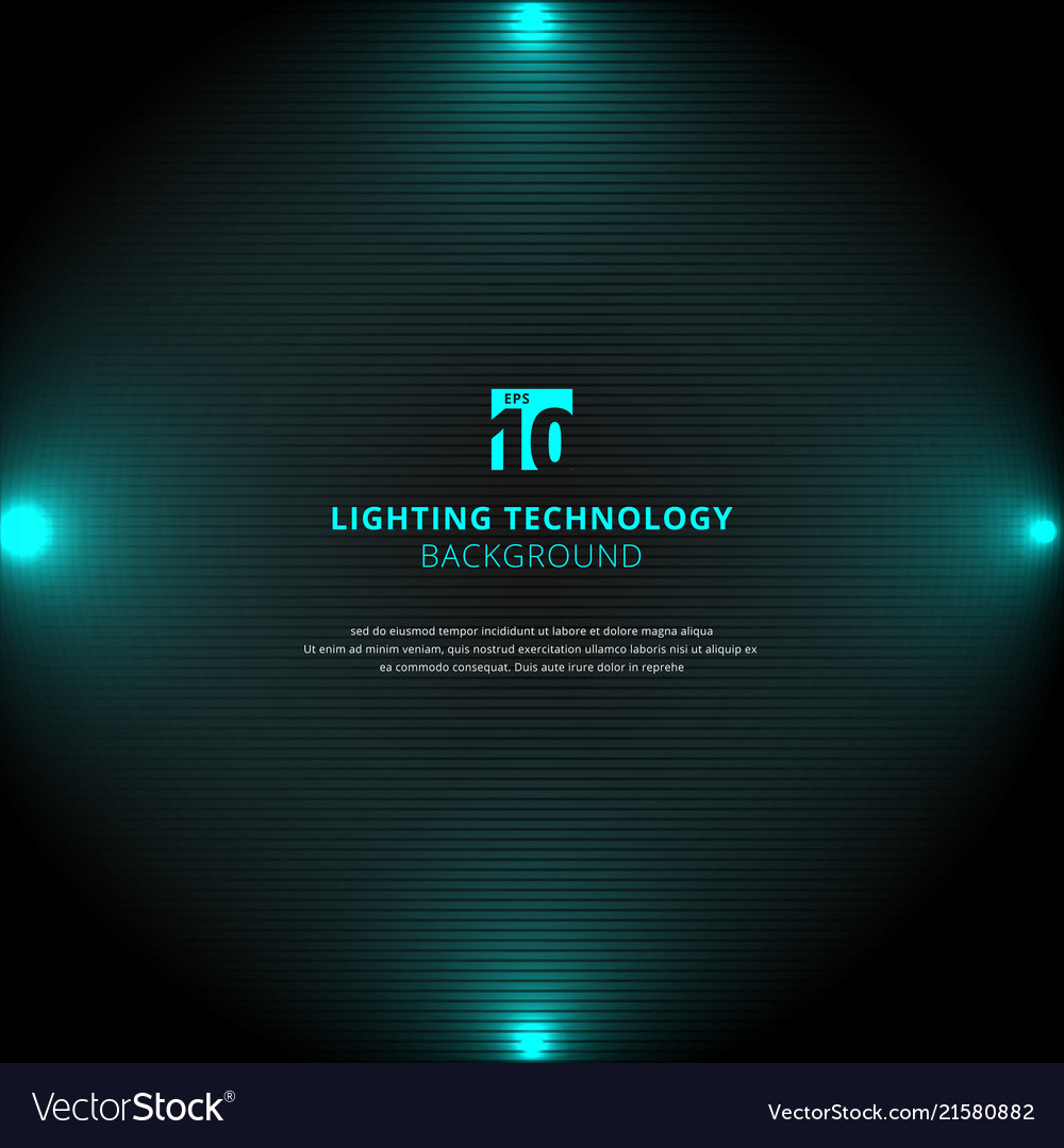 Technology blue lighting glow effect with