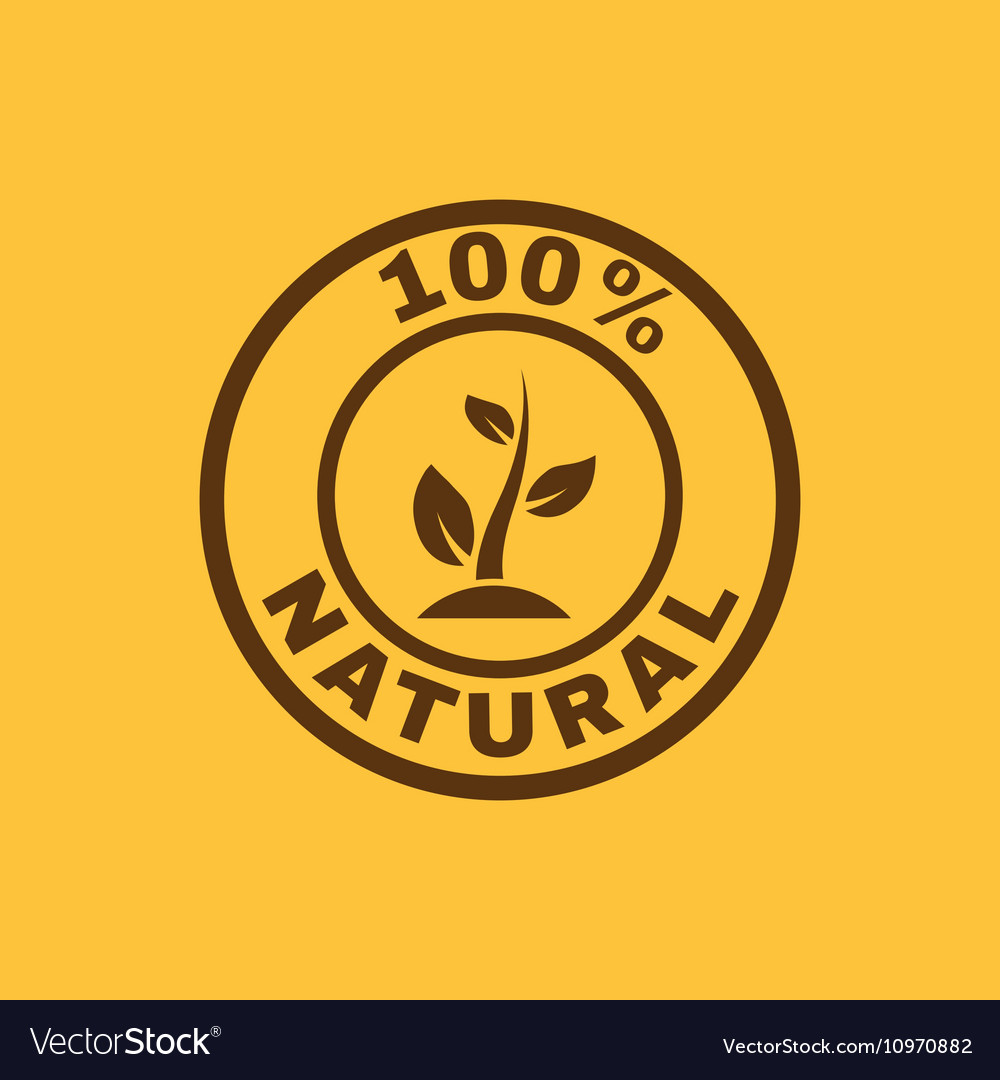 The 100 percent natural icon Eco and bio ecology