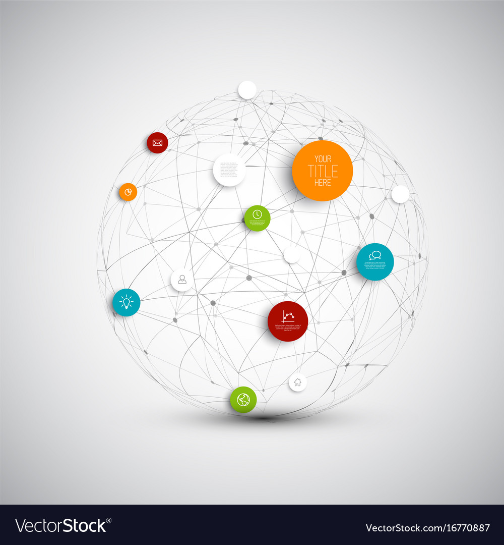 Abstract circles infographic network template