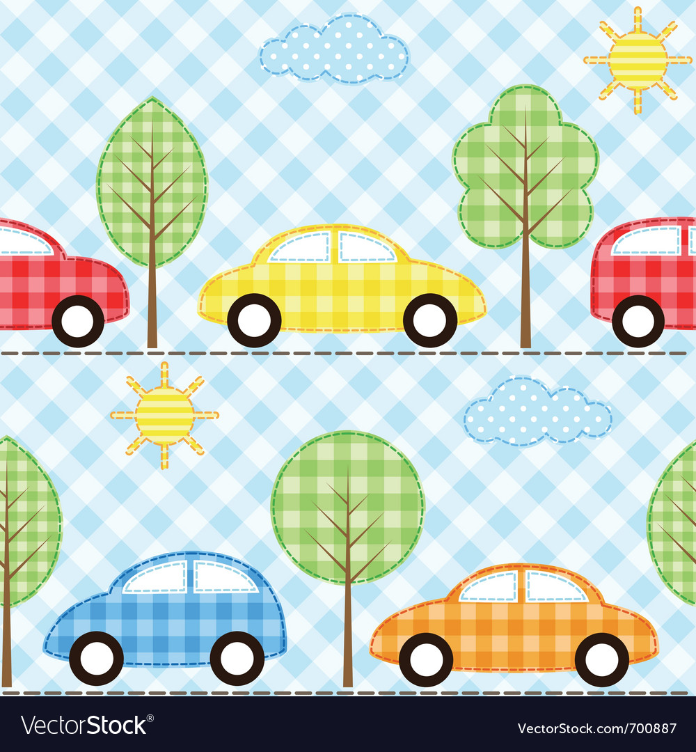 Cars background vector image