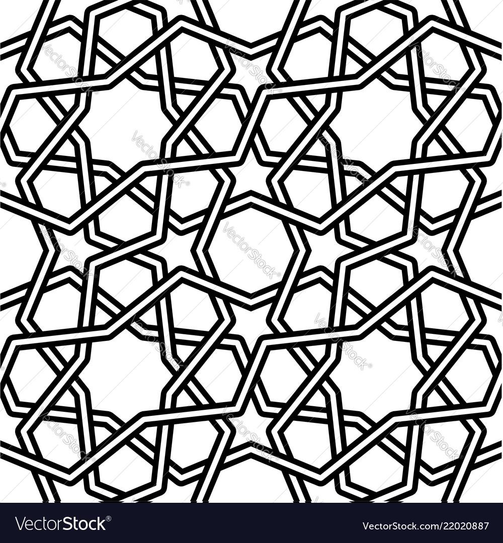 Islamic pattern on white