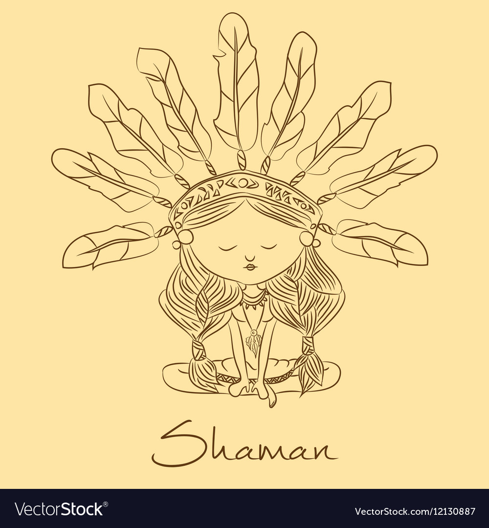 Sketch Shaman redskin