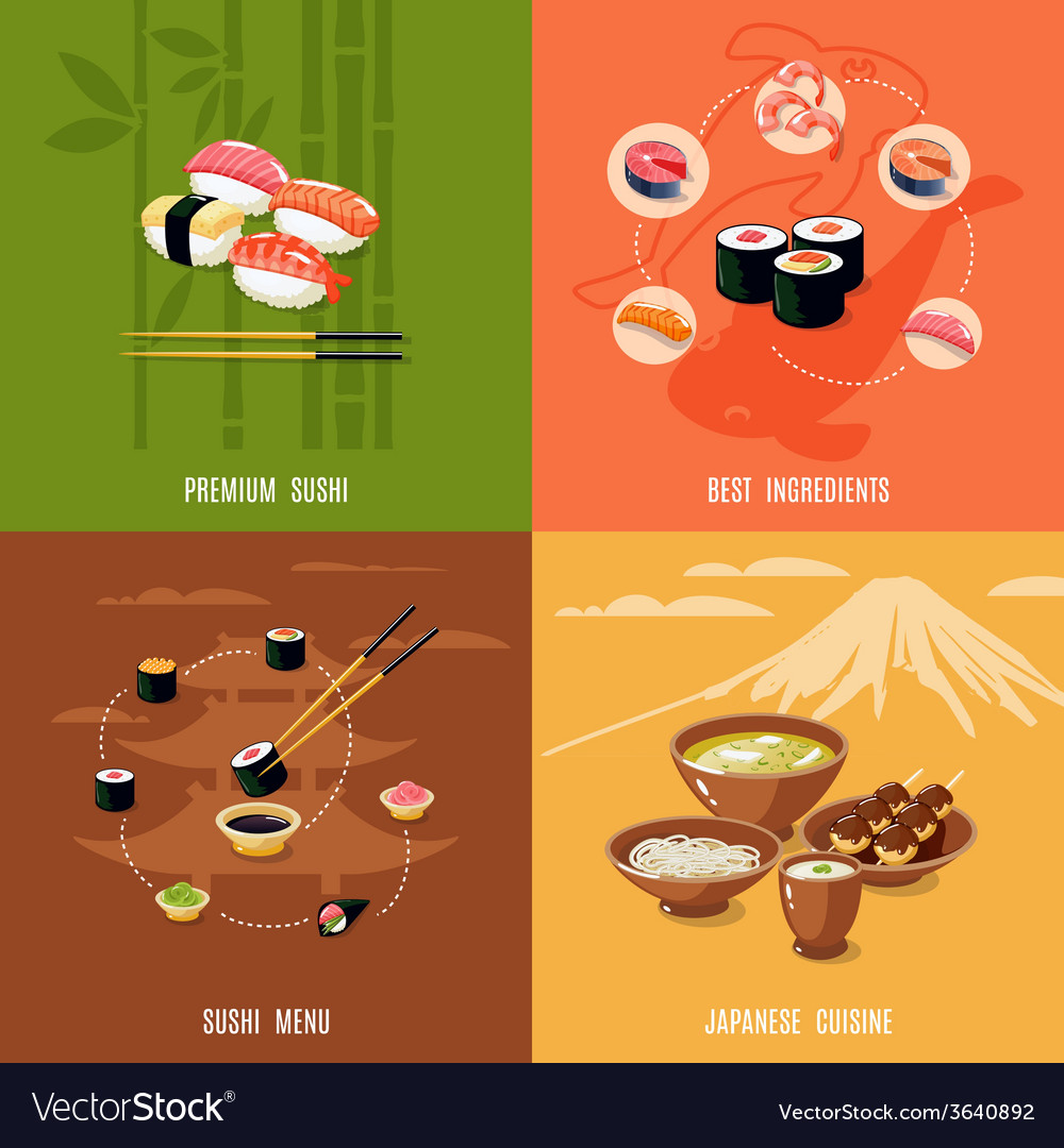 Asian Food Design Concept