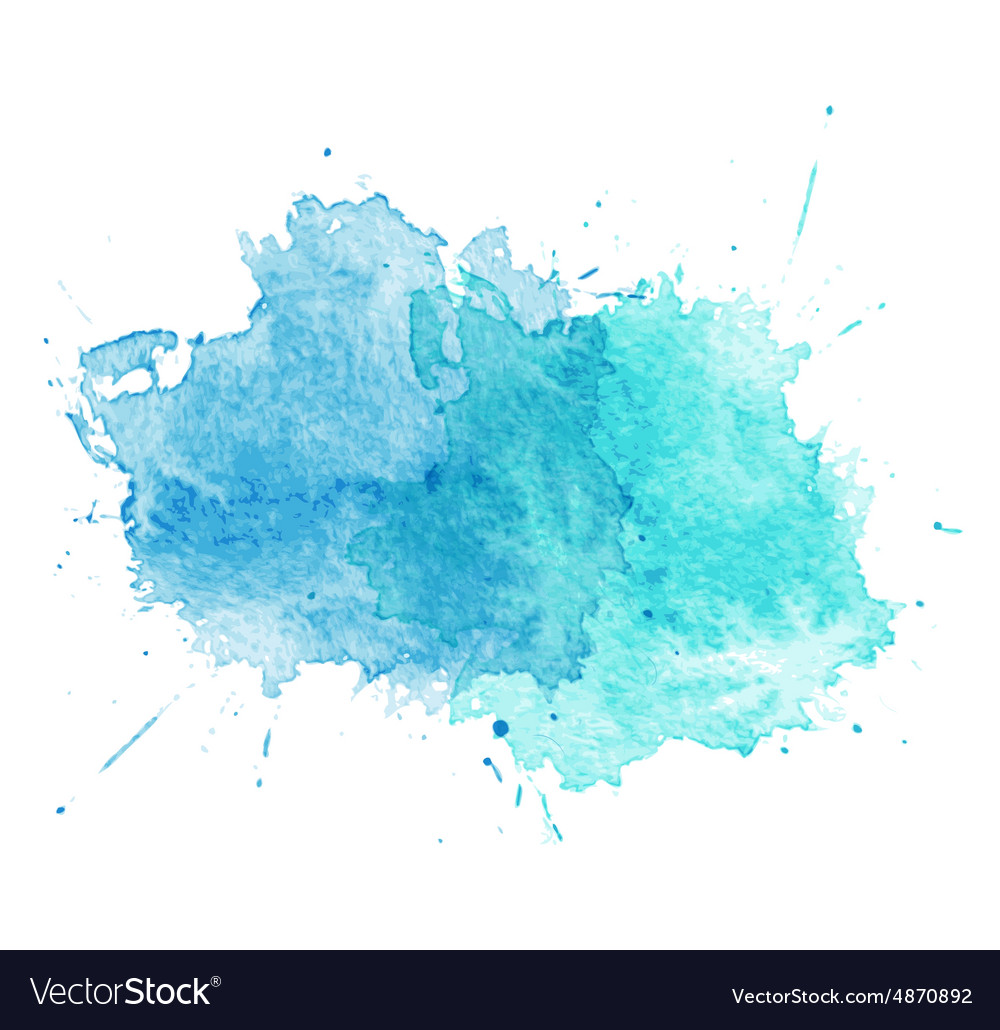 Blue Watercolor splatters