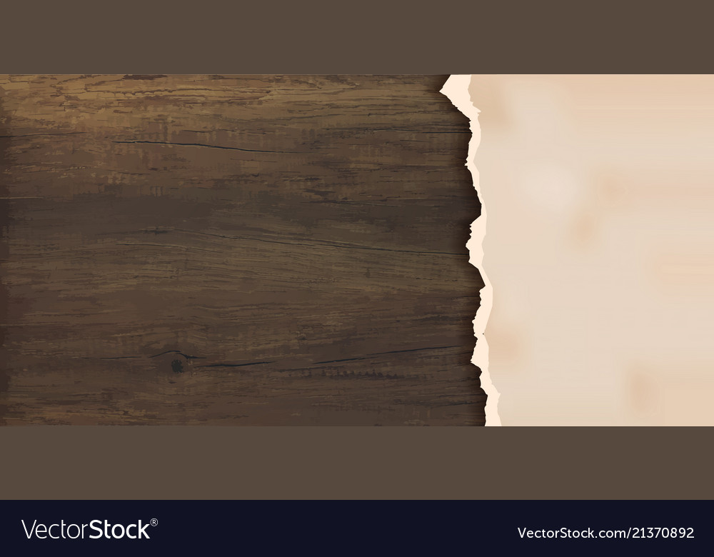 Grunge paper on wooden wall design