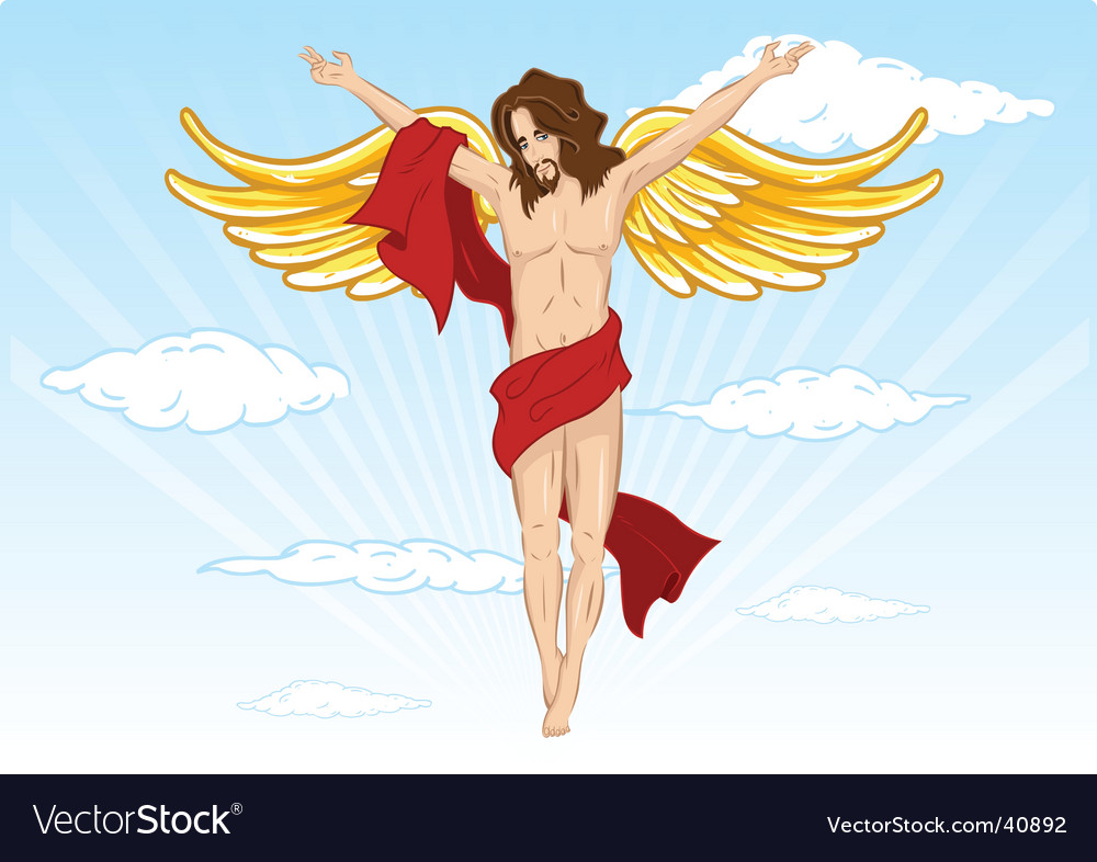 Male angel illustration