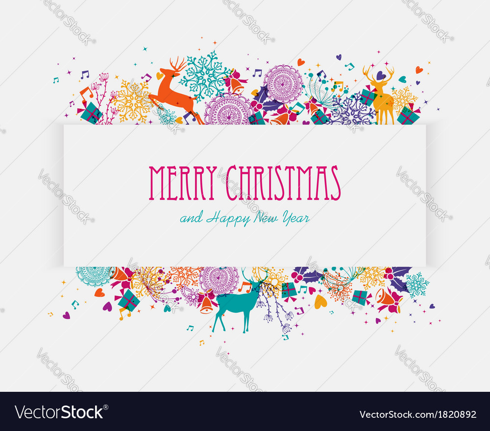 merry christmas colorful banner royalty free vector image